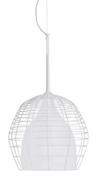 Pendant lamp Cage - Ø 34 White Diesel with Foscarini Diesel Creative Team 1