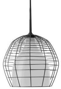 Cage suspension lamp - Ø 34 Black | White Diesel with Foscarini Diesel Creative Team 1