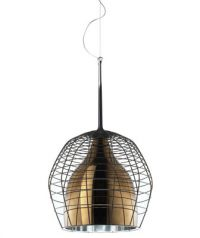 Pendant lamp Cage Ø 34 cm Bronze | Brown Diesel with Foscarini Diesel Creative Team 1