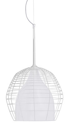 Pendant lamp Cage - Ø 46 cm White Diesel with Foscarini Diesel Creative Team 1