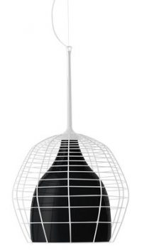 Cage suspension lamp - Ø 46 cm White | Black Diesel with Foscarini Diesel Creative Team 1