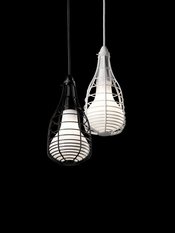 Pendant Lamp Cage Mic White Diesel with Foscarini Diesel Creative Team 2