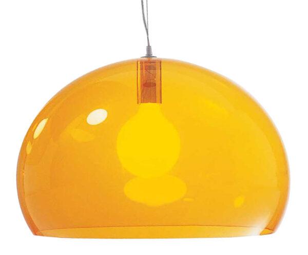 Lampada a sospensione FL/Y - Ø 52 cm Arancione Kartell Ferruccio Laviani 1