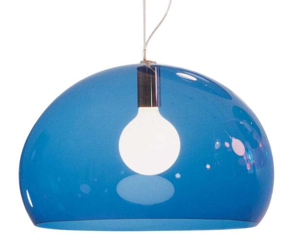 Lampada a sospensione FL/Y - Ø 52 cm Blu Kartell Ferruccio Laviani 1