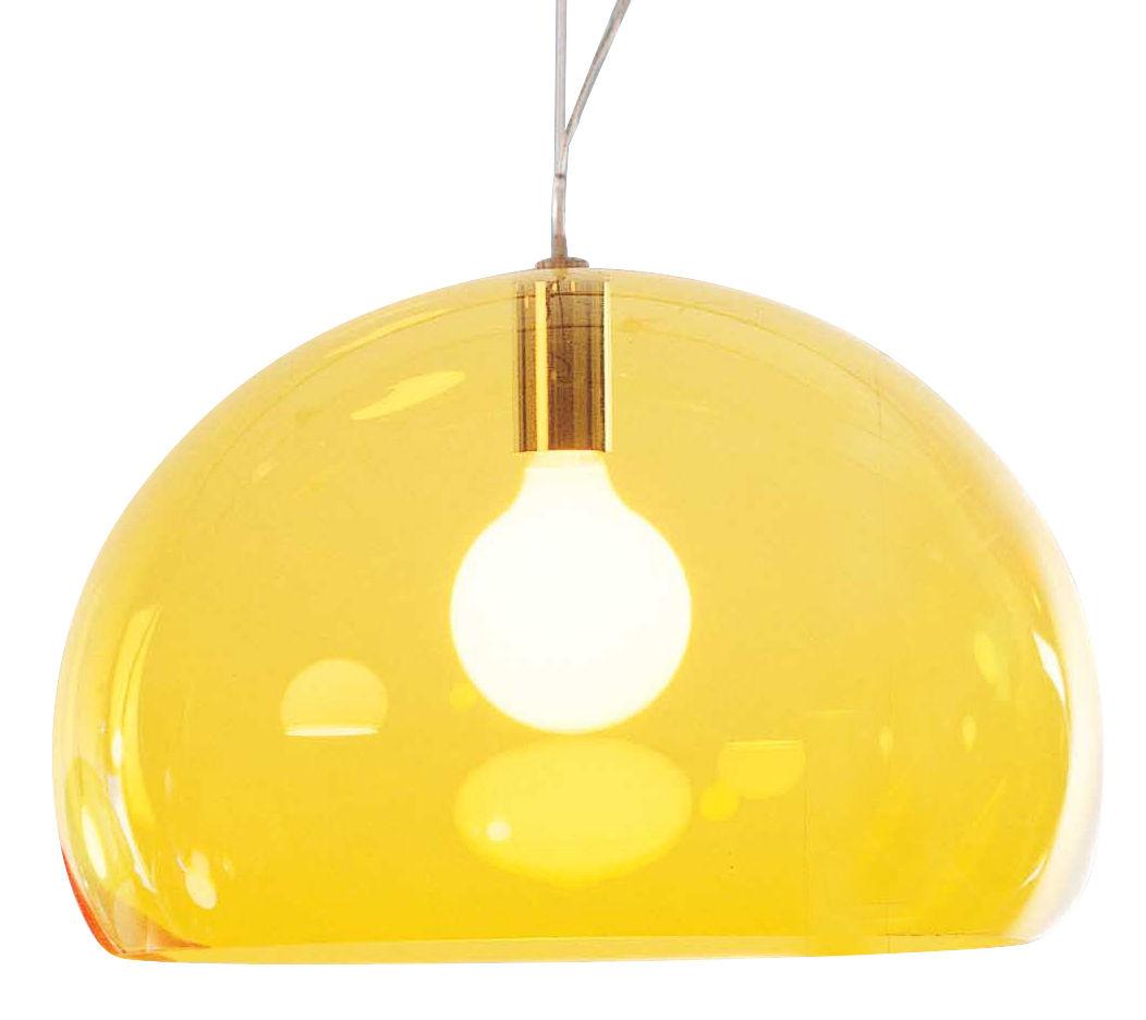 Lámpara de suspensión FL / Y - Ø 52 cm Amarillo Kartell Ferruccio Laviani 1