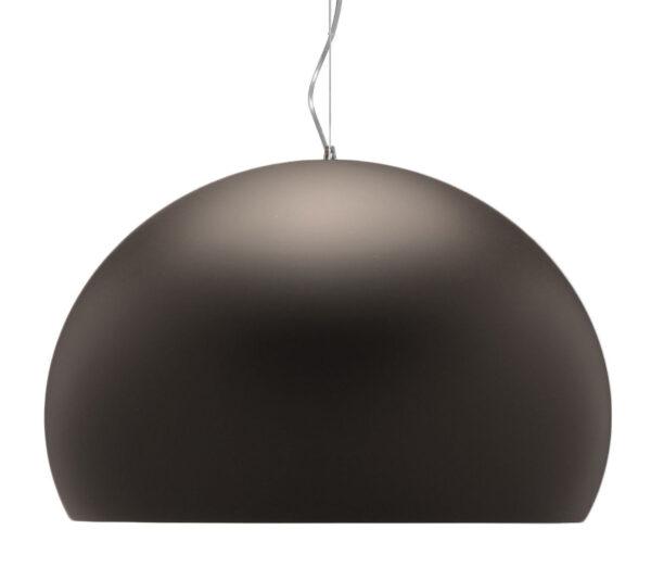 Lámpara de suspensión FL / Y - Ø 52 cm Marrón mate pintado Kartell Ferruccio Laviani 1