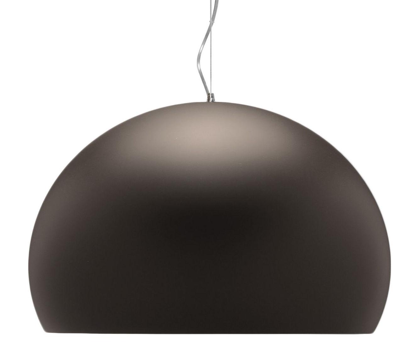Lampe à suspension FL / Y - Ø 52 cm Peinture marron mat Kartell Ferruccio Laviani 1