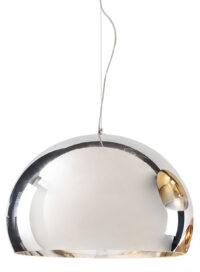 Lampada a sospensione FL/Y - Ø 52 cm Metallizzata Cromato Kartell Ferruccio Laviani 1