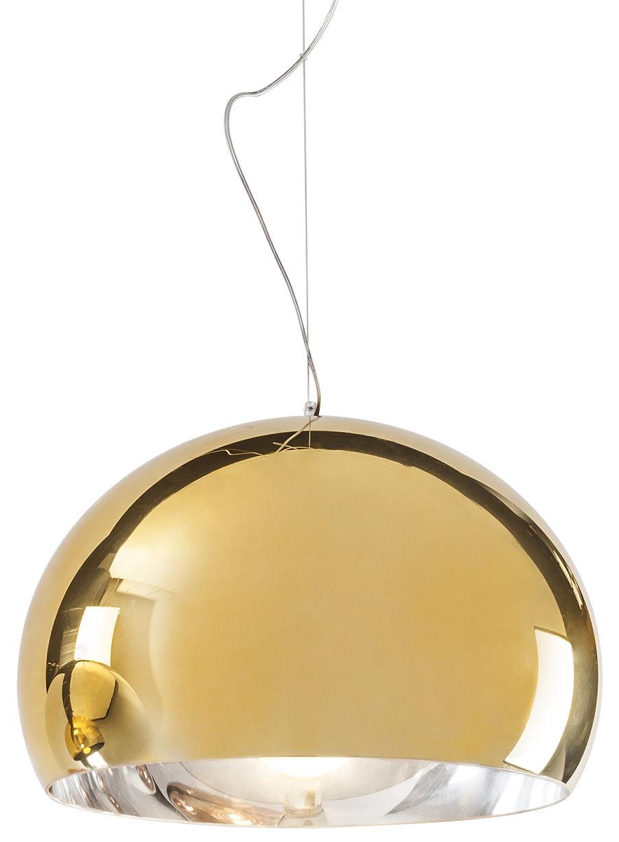 Lampe à suspension FL / Y - Ø 52 cm Or métallique Kartell Ferruccio Laviani 1