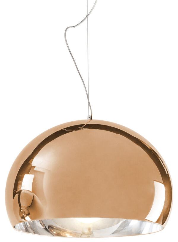 Lampada a sospensione FL/Y - Ø 52 cm Metallizzata Rame Kartell Ferruccio Laviani 1