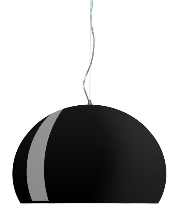 Suspension lamp FL / Y - Ø 52 cm Bright matt black Kartell Ferruccio Laviani 1