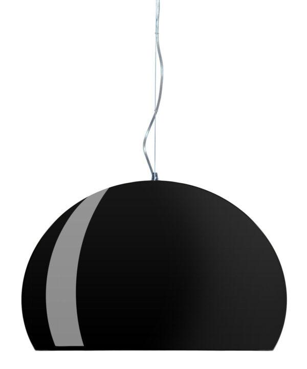 Lâmpada de suspensão FL / Y - Ø 52 cm Preto mate brilhante Kartell Ferruccio Laviani 1