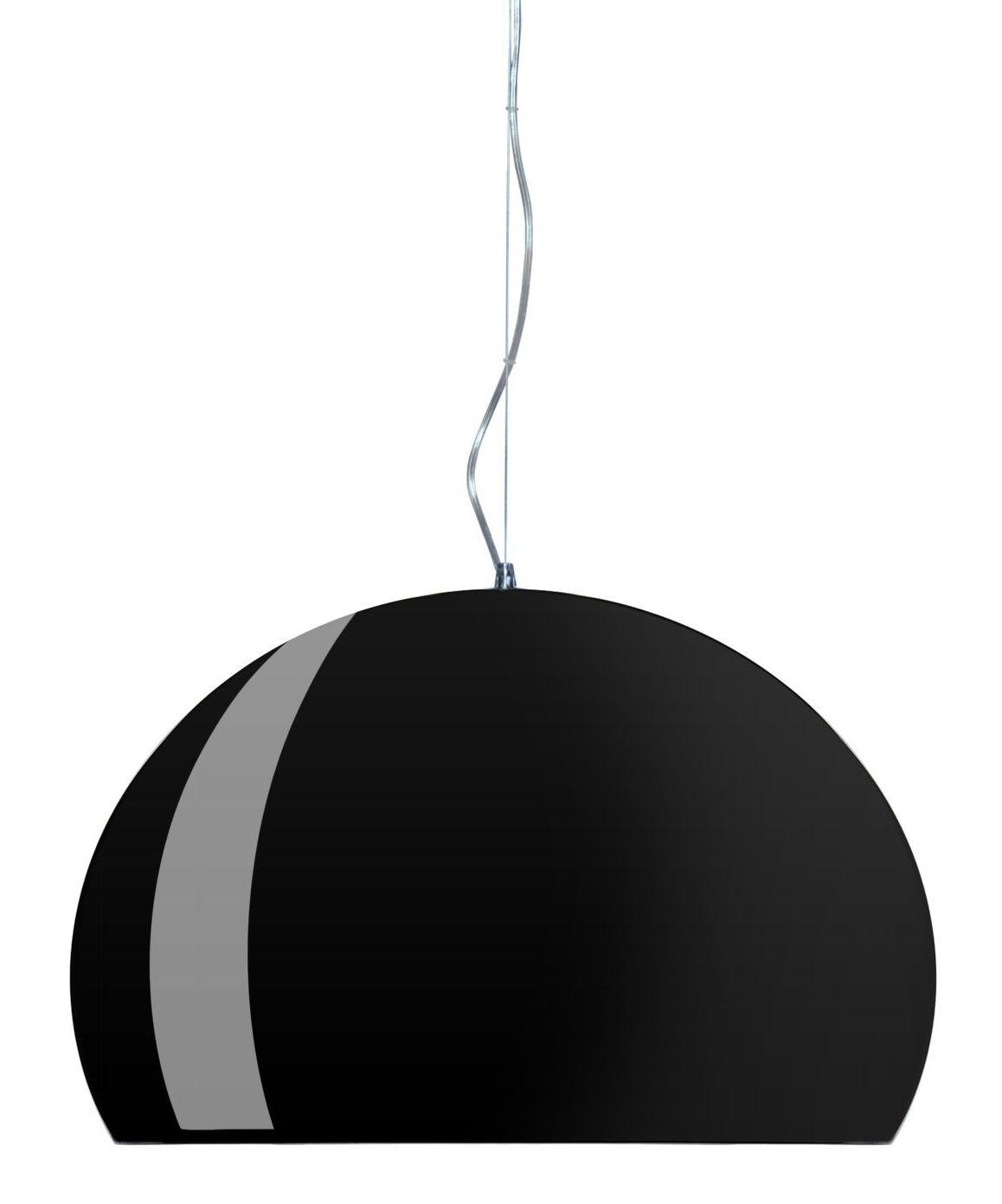 Φωτιστικό ανάρτησης FL / Y - Ø 52 cm Φωτεινό ματ μαύρο Kartell Ferruccio Laviani 1