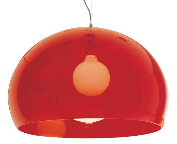 Lampada a sospensione FL/Y - Ø 52 cm Rosso Kartell Ferruccio Laviani 1