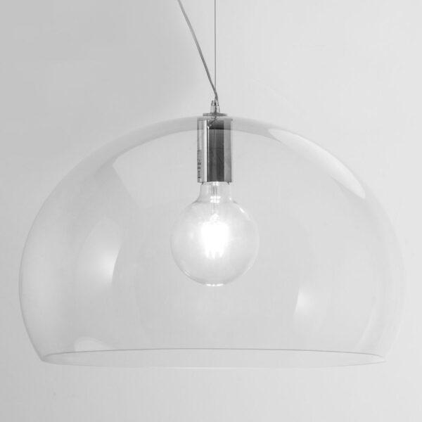 Lampada a sospensione FL/Y - Ø 52 cm Trasparente Kartell Ferruccio Laviani 1