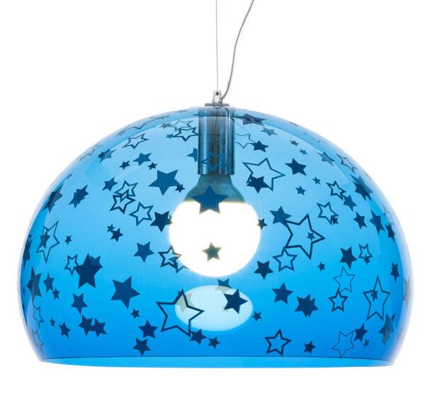 Lampada a sospensione FL/Y KIDS - Ø 52 cm Blu Kartell Ferruccio Laviani 1