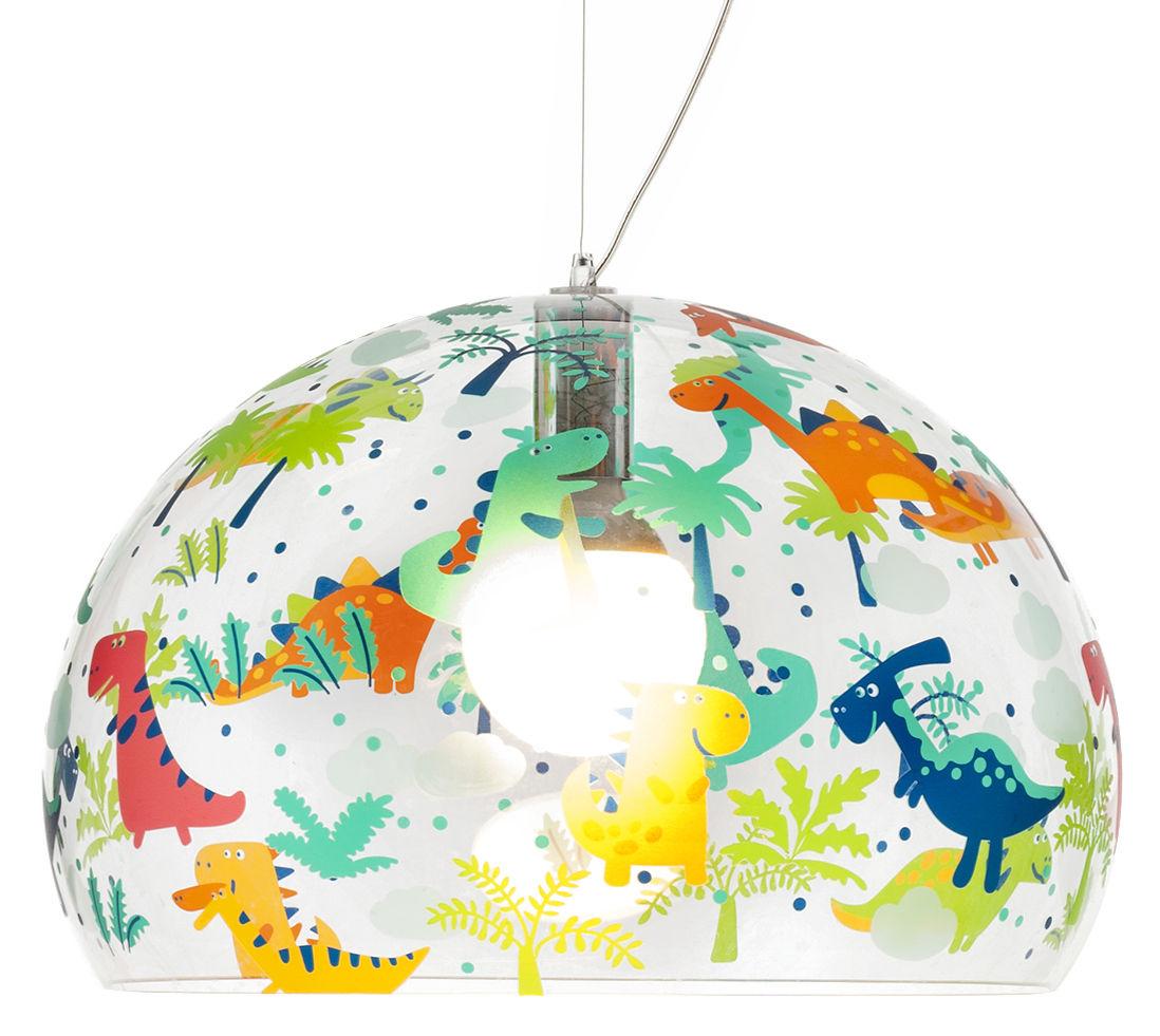 Lámpara de suspensión FL / Y KIDS - Ø 52 cm Multicolor | Transparente Kartell Ferruccio Laviani 1