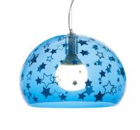 Lampada a sospensione FL/Y KIDS Small - Ø 38 cm Blu Kartell Ferruccio Laviani 1