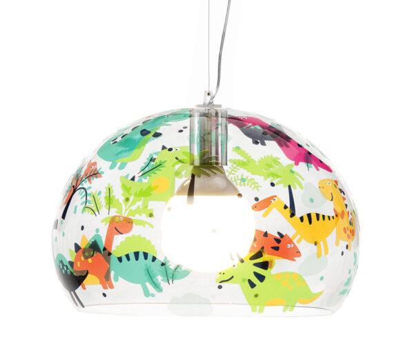Lampada a sospensione FL/Y KIDS Small - Ø 38 cm Multicolore|Trasparente Kartell Ferruccio Laviani 1