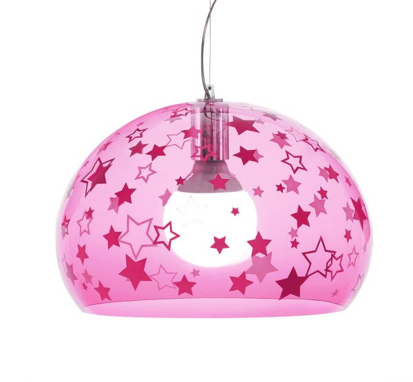 Suspension lamp FL / Y KIDS Small - Ø 38 cm Rosa Kartell Ferruccio Laviani 1