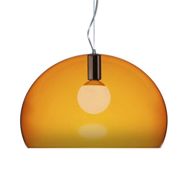 Lampada a sospensione FL/Y Small - Ø 38 cm Arancione Kartell Ferruccio Laviani 1