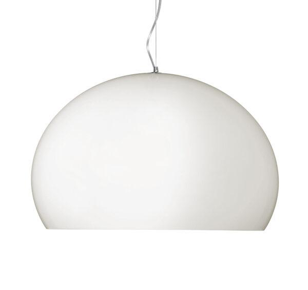 Lampada a sospensione FL/Y Small - Ø 38 cm Bianco opaco brillante Kartell Ferruccio Laviani 1