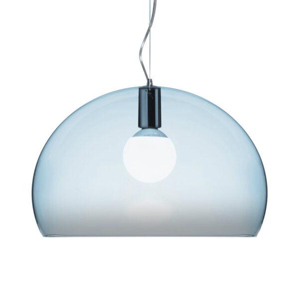 Lampada a sospensione FL/Y Small - Ø 38 cm Blu Parma Kartell Ferruccio Laviani 1