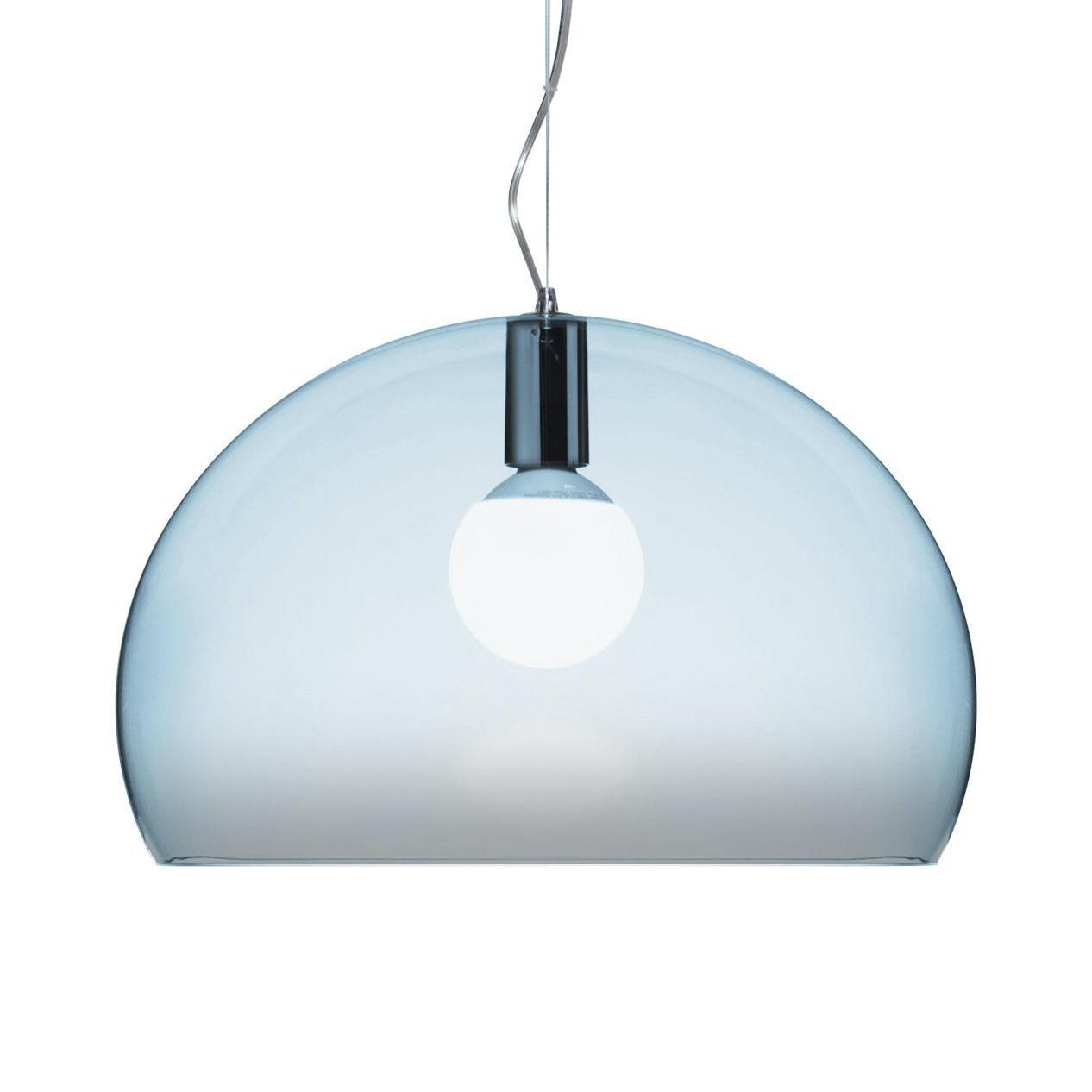 Suspension lamp FL / Y Small - Ø 38 cm Parma Blue Kartell Ferruccio Laviani 1