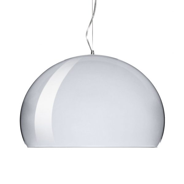 Lampe à suspension FL / Y Small - Ø 38 cm Chrome Kartell Ferruccio Laviani 1