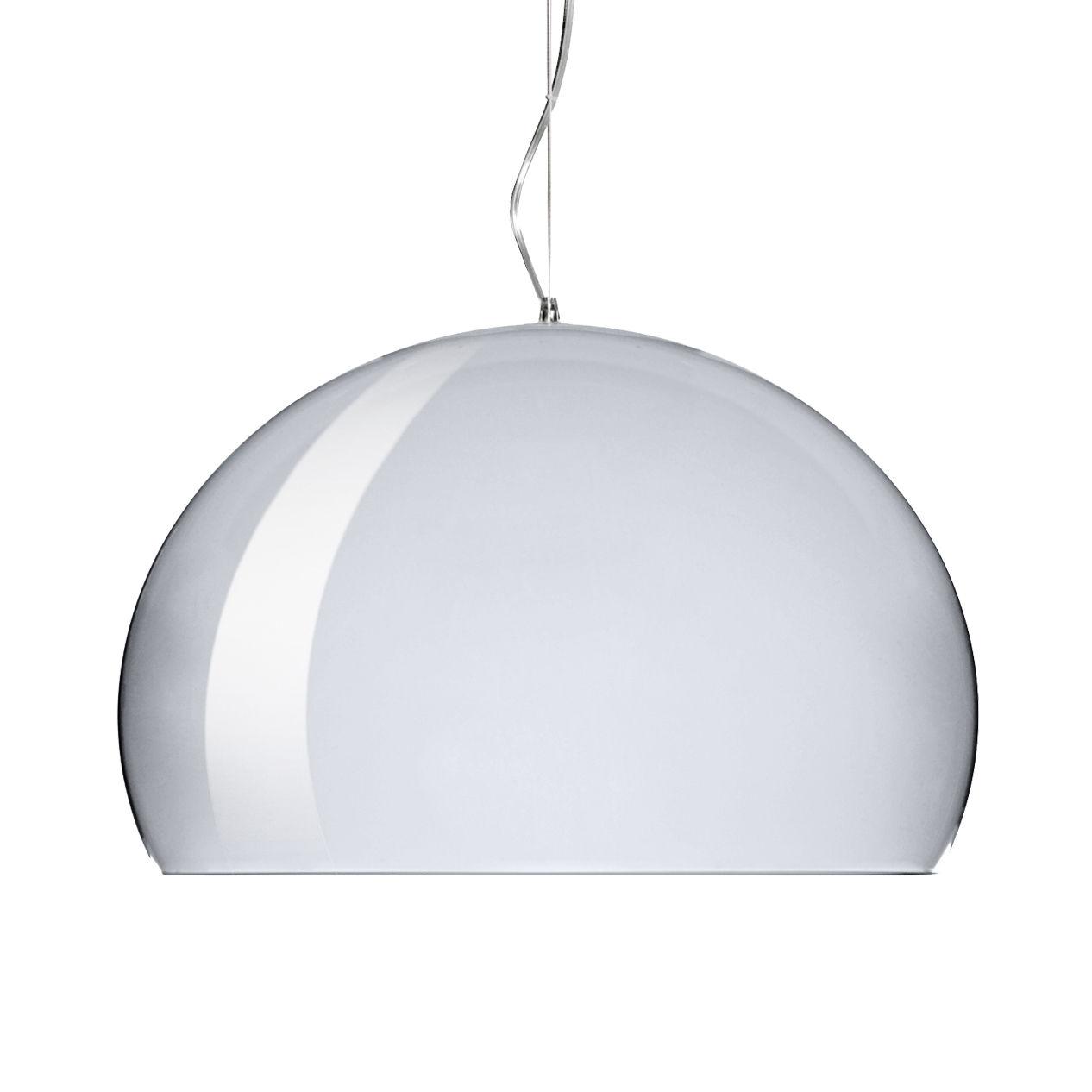 Lampe à suspension FL / Y Small - Ø 38 cm Chrome Kartell Ferruccio Laviani 1