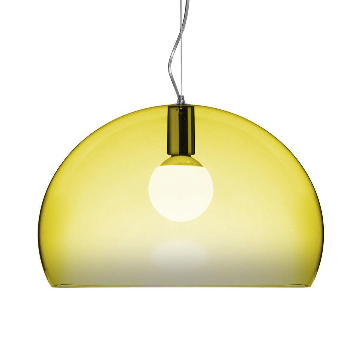 Λυχνία ανάρτησης FL / Y Small - Ø 38 cm Κίτρινο Kartell Ferruccio Laviani 1