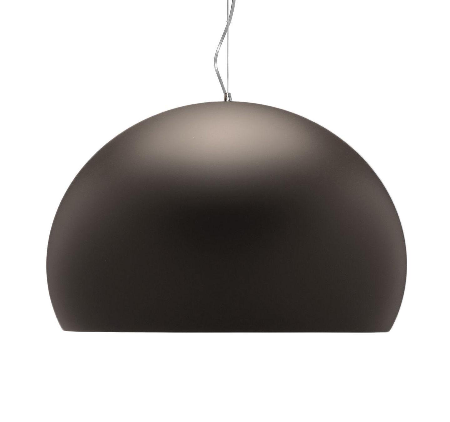 Lampe à suspension FL / Y Small - Ø 38 cm Marron mat Kartell Ferruccio Laviani 1