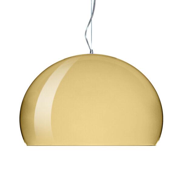 Luminária de suspensão FL / Y Small - Ø 38 cm Ouro Kartell Ferruccio Laviani 1