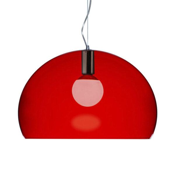 Lampada a sospensione FL/Y Small - Ø 38 cm Rosso Kartell Ferruccio Laviani 1