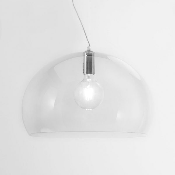 Lâmpada de suspensão FL / Y Pequeno - Ø 38 cm Transparente Kartell Ferruccio Laviani 1