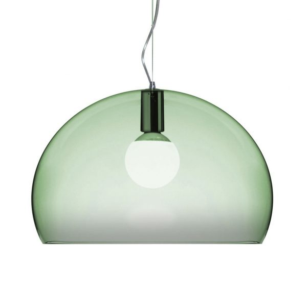 Suspension lamp FL / Y Small - Ø 38 cm Sage green Kartell Ferruccio Laviani 1