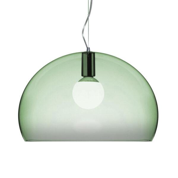 Lampada a sospensione FL/Y Small - Ø 38 cm Verde salvia Kartell Ferruccio Laviani 1
