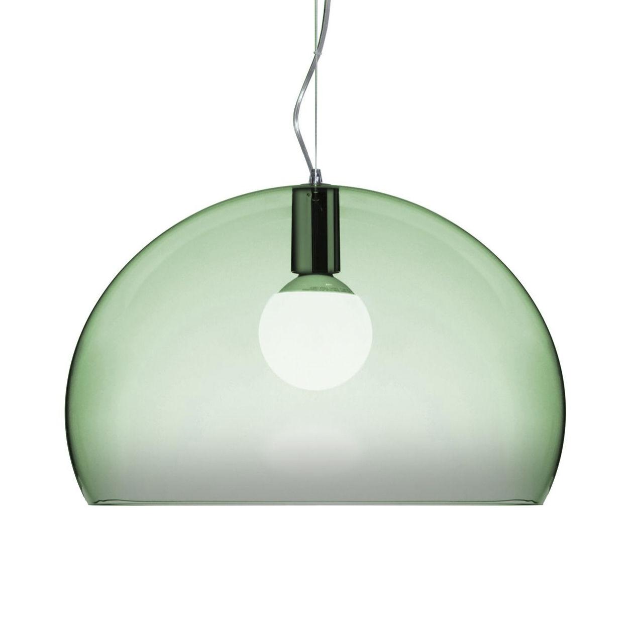 Lámpara de suspensión FL / Y Pequeña - Ø 38 cm Verde salvia Kartell Ferruccio Laviani 1