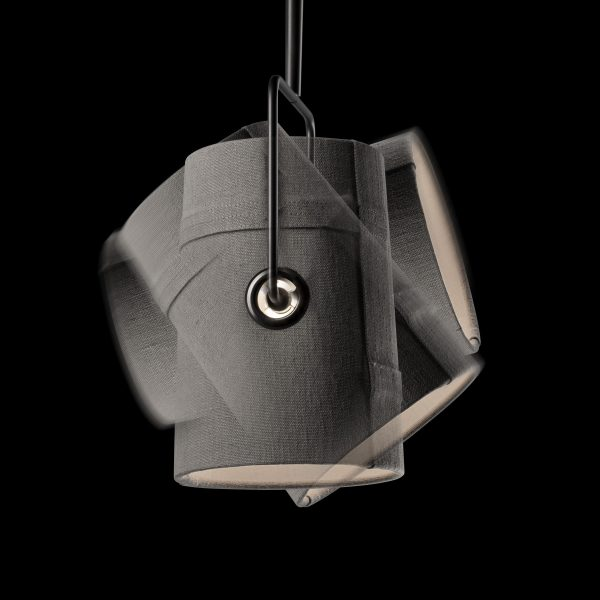 Hanging lamp small Fork Gray Diesel with Foscarini Diesel Creative Team 2