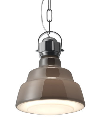 hanging lamp Glas - Ø 22 cm Brown | Chrome Diesel with Foscarini Diesel Creative Team 1
