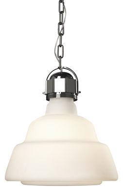 pendaison blanc de lampe Glas / Ø 41 | Chrome Diesel avec Foscarini Diesel Creative Team 1
