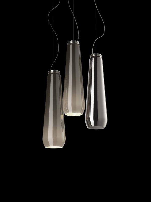 Pendant lamp Glass drop Chrome Diesel with Foscarini Diesel Creative Team 2