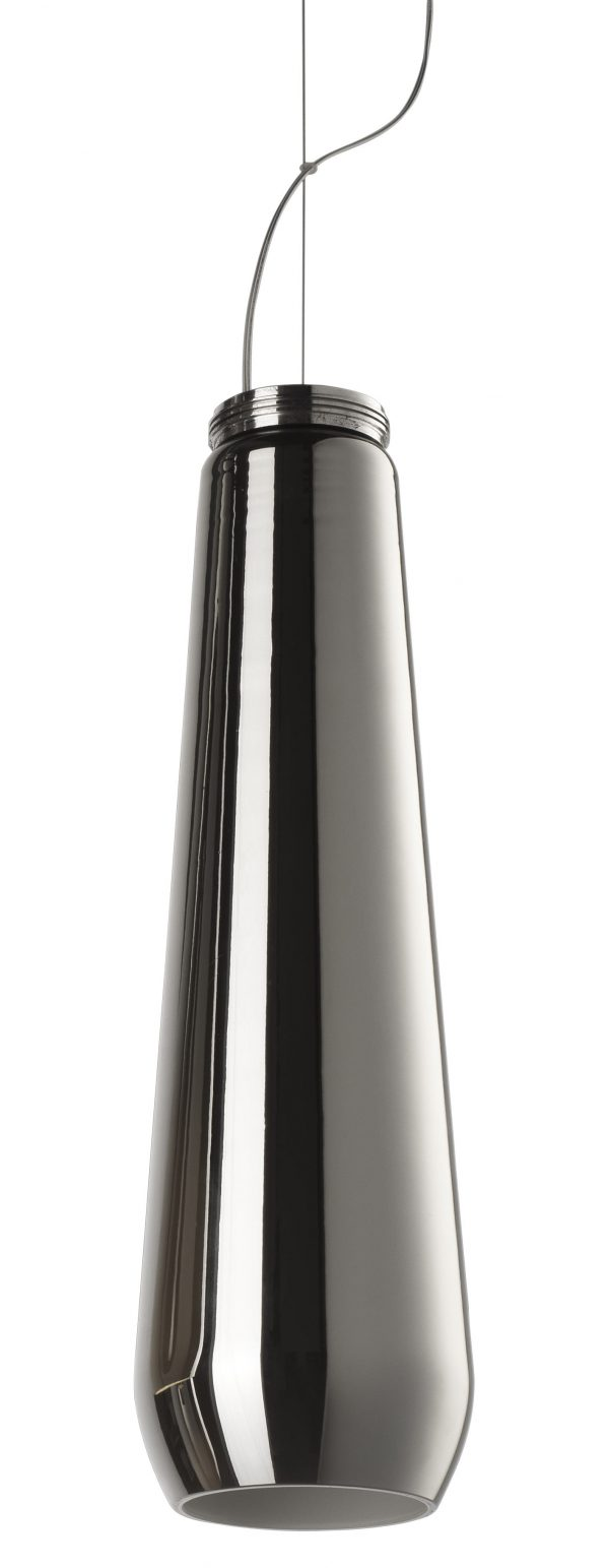 Pendant lamp Glass drop Chrome Diesel with Foscarini Diesel Creative Team 1