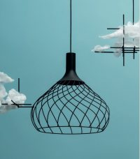 Hanging lamp Mongolfier_P2 Black Line Light Group LLG Design Center