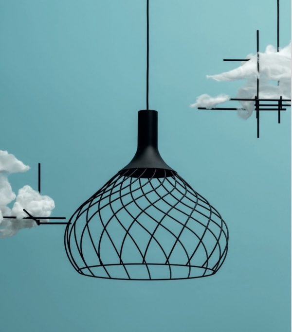 Lampada a sospensione Mongolfier_P2 Nero Linea Light Group Centro Design LLG