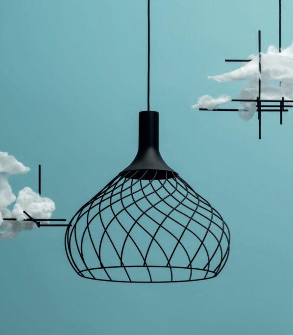 Lámpara de suspensión Mongolfier_P2 Negro Linea Light Group Design Center LLG