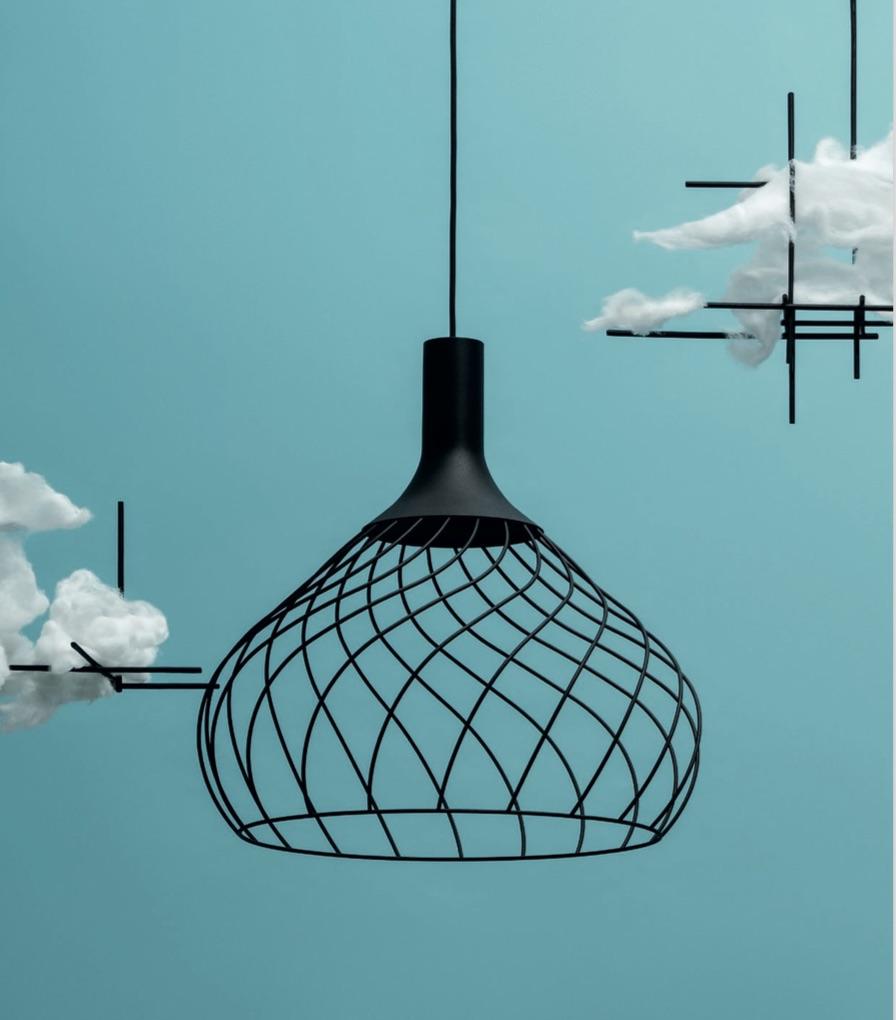 Lampe à suspension Mongolfier_P2 Noir Linea Light Group Design Center LLG