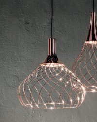Suspension lamp Mongolfier_P2 Copper Line Light Group Center Design LLG