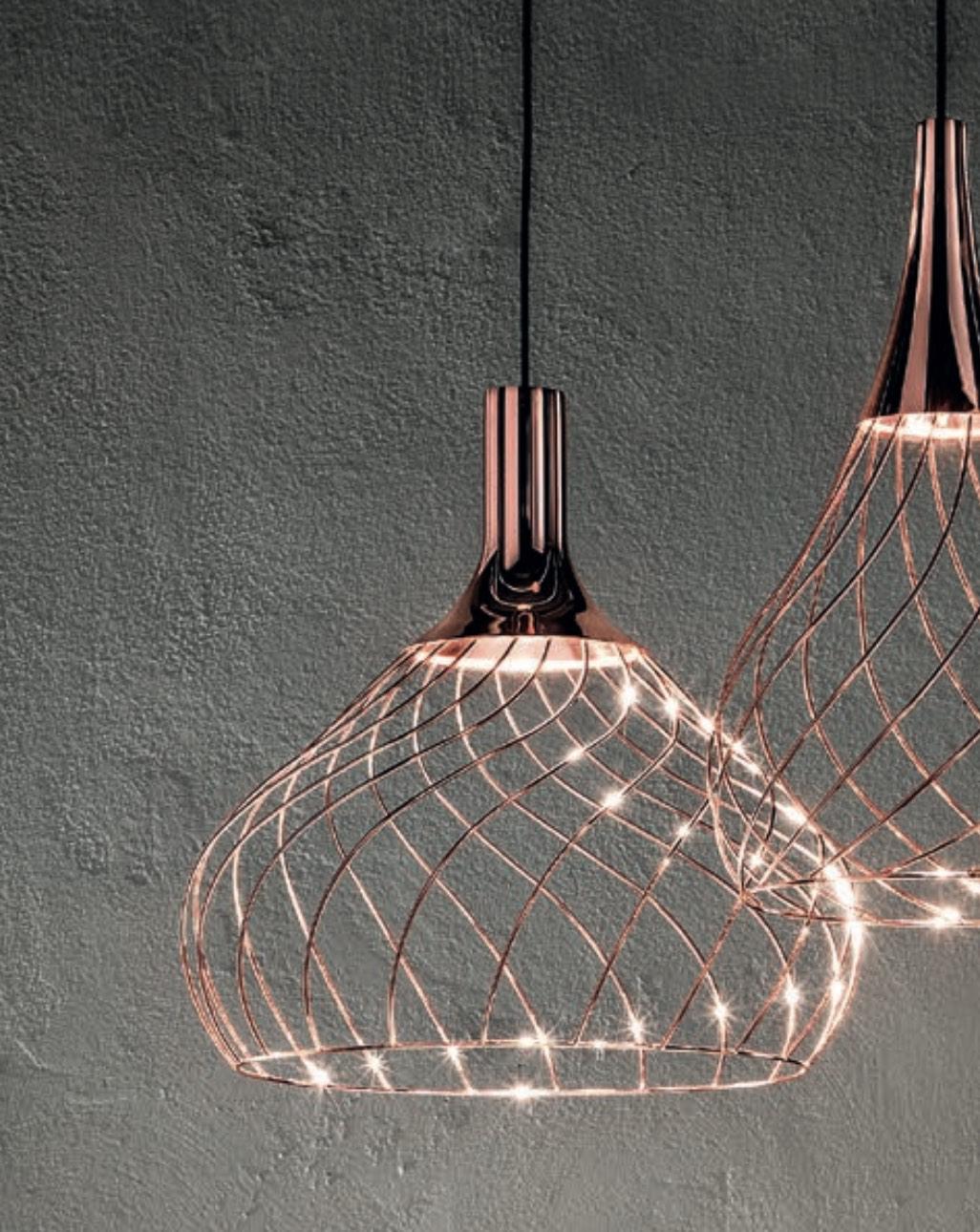 Suspension cuivre Mongolfier_P2 Linea Light Design Group Centre LLG