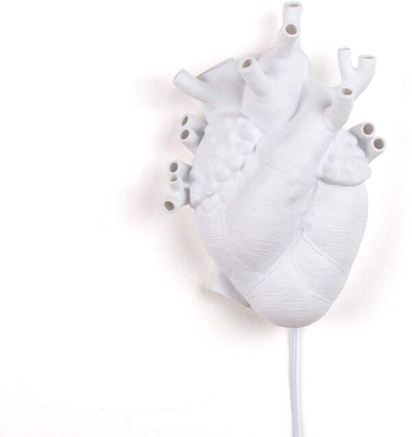 Candeeiro de coração Candeeiro de parede branco Seletti Marcantonio Raimondi Malerba